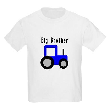 Big Brother Blue Tractor Kids Light T-Shirt