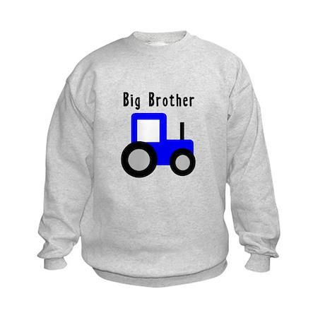 Big Brother Blue Tractor Kids Sweatshirt
