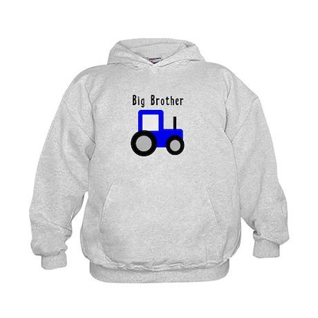 Big Brother Blue Tractor Kids Hoodie