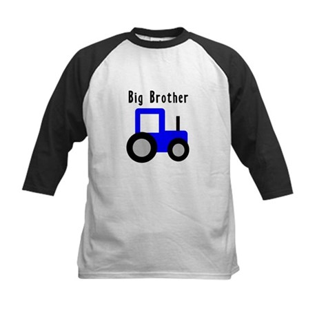 Big Brother Blue Tractor Kids Baseball Jersey