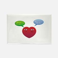 Funny Talking Love Heart Design Rectangle Magnet
