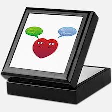 Funny Talking Love Heart Design Keepsake Box