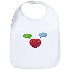 Funny Talking Love Heart Design Bib
