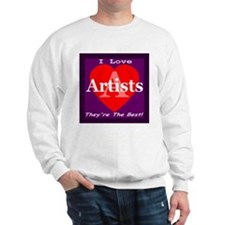I Love Artists Sweatshirt