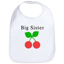 Big Sister Cherries Bib