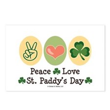 Peace Love St Paddy's Day Postcards (Package of 8)