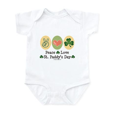 Peace Love St Paddy's Day Infant Bodysuit
