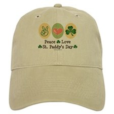 Peace Love St Paddy's Day Baseball Cap