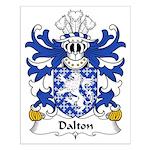 Dalton Family Crest Small Poster