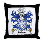 Dalton Family Crest Throw Pillow