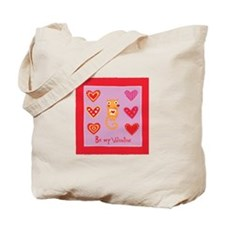 Cute Kitty Cat Valentine Tote Bag