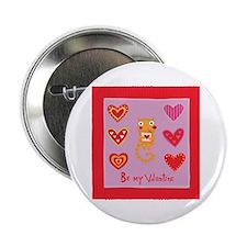 "Cute Kitty Cat Valentine 2.25"" Button"