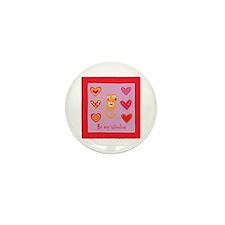 Cute Kitty Cat Valentine Mini Button (100 pack)