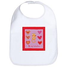 Cute Kitty Cat Valentine Bib