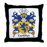 Cynfelyn Family Crest Throw Pillow