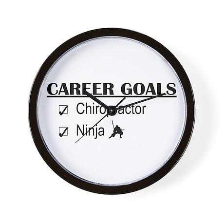 Chiropractor Career Goals Wall Clock