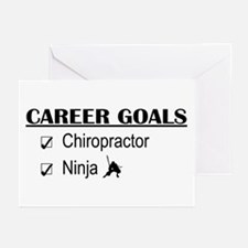 Chiropractor Career Goals Greeting Cards (Pk of 10