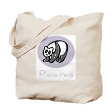 P is for Panda Tote Bag