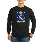 Cwrtais Family Crest Long Sleeve Dark T-Shirt