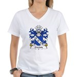 Cwrtais Family Crest Women's V-Neck T-Shirt