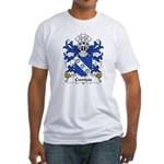 Cwrtais Family Crest Fitted T-Shirt