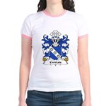 Cwrtais Family Crest Jr. Ringer T-Shirt