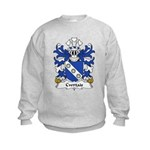 Cwrtais Family Crest Kids Sweatshirt