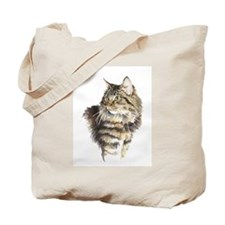 Tote Bag with tabby cat