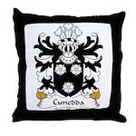 Cunedda Family Crest Throw Pillow