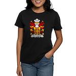 Crevequer Family Crest Women's Dark T-Shirt