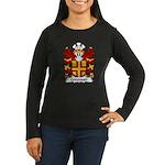 Crevequer Family Crest Women's Long Sleeve Dark T-