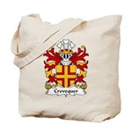 Crevequer Family Crest Tote Bag