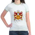 Crevequer Family Crest Jr. Ringer T-Shirt