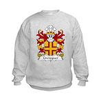 Crevequer Family Crest Kids Sweatshirt