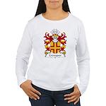 Crevequer Family Crest Women's Long Sleeve T-Shirt