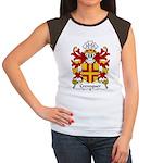 Crevequer Family Crest Women's Cap Sleeve T-Shirt