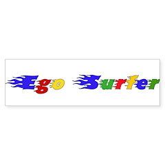 Ego Surfer Bumper Bumper Sticker