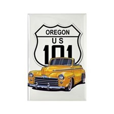 Oregon Classic Car Rectangle Magnet