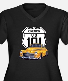 Oregon Classic Car Women's Plus Size V-Neck Dark T