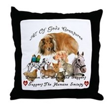 Humane Society Animal Support Throw Pillow