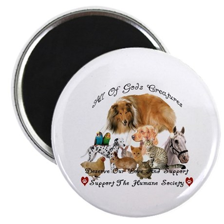 "Humane Society Support 2.25"" Magnet (100 pack)"
