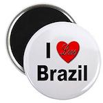 I Love Brazil Magnet