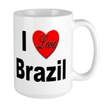 I Love Brazil Large Mug