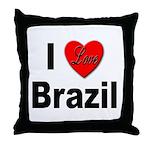 I Love Brazil Throw Pillow