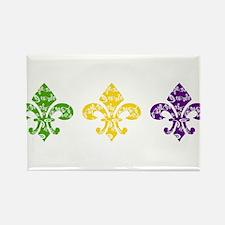 Mardi Fleur Swirl Rectangle Magnet (10 pack)