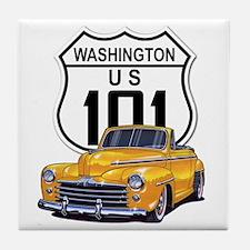 Washington Classic Car Tile Coaster