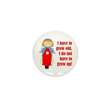 Scooter Girl Mini Button (10 pack)