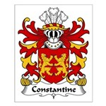 Constantine Family Crest Small Poster