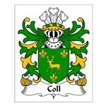 Coll Family Crest Small Poster