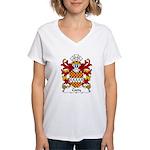 Coety Family Crest Women's V-Neck T-Shirt